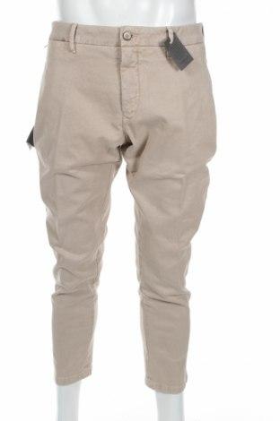 Ανδρικό παντελόνι Siviglia, Μέγεθος L, Χρώμα  Μπέζ, 98% βαμβάκι, 2% ελαστάνη, Τιμή 23,04€