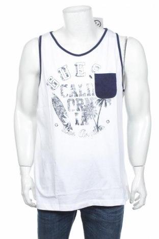 Ανδρική αμάνικη μπλούζα Guess, Μέγεθος XL, Χρώμα Λευκό, Βαμβάκι, Τιμή 16,73€
