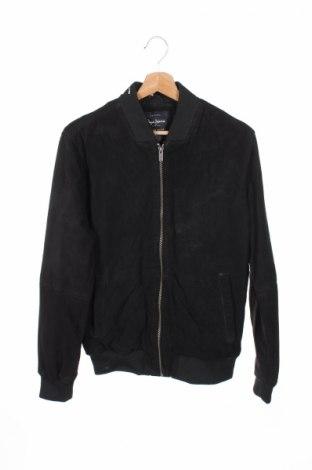 Ανδρικό δερμάτινο μπουφάν Pepe Jeans, Μέγεθος S, Χρώμα Μαύρο, Γνήσιο δέρμα, Τιμή 54,00€