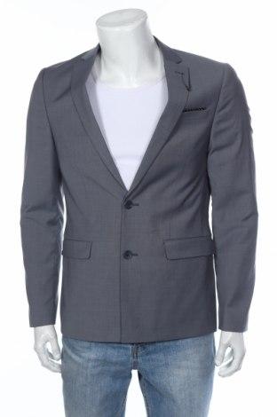 Ανδρικό σακάκι ASOS, Μέγεθος M, Χρώμα Γκρί, 54% πολυεστέρας, 43% μαλλί, 3% ελαστάνη, Τιμή 6,74€