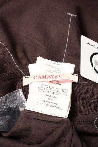 Пола Camaieu, Размер XS, Цвят Кафяв, Вискоза, Цена 19,72лв.