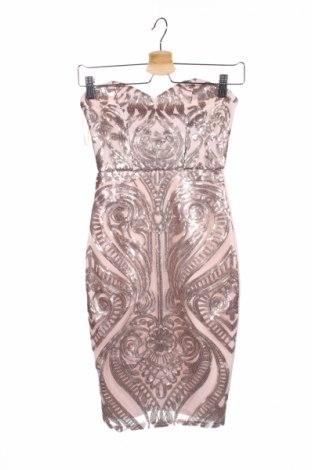 Рокля Lipsy London, Размер XXS, Цвят Розов, 94% полиестер, 6% еластан, Цена 55,60лв.