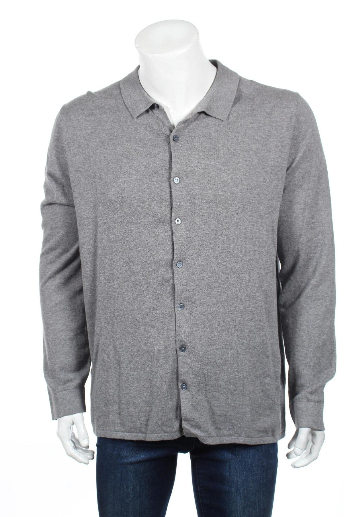 Мъжка жилетка Mango, Размер XL, Цвят Сив, Памук, Цена 19,60лв.
