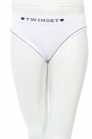 Бикини TWINSET, Размер L, Цвят Бял, 88% полиамид, 10% еластан, 2% полиестер, Цена 10,62лв.