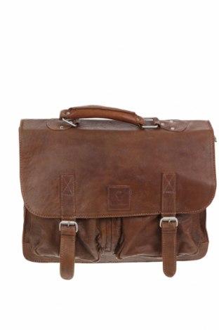 Чанта за лаптоп Bull & Hunt, Цвят Кафяв, Естествена кожа, Цена 199,10лв.