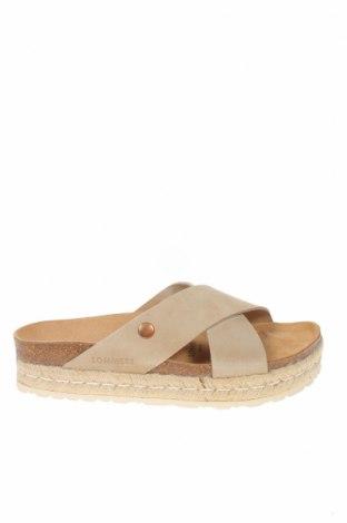 Papuci Sommers, Mărime 40, Culoare Bej, Velur natural, Preț 157,37 Lei