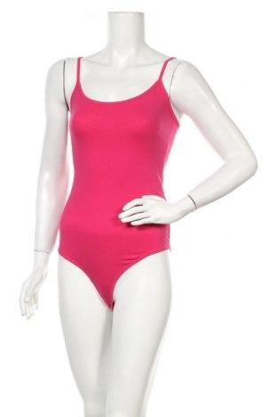 Дамска блуза - боди Bershka, Размер M, Цвят Розов, 95% памук, 5% еластан, Цена 24,00лв.