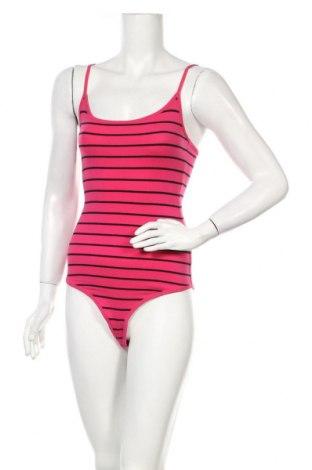 Дамска блуза - боди Bershka, Размер S, Цвят Розов, 95% памук, 5% еластан, Цена 24,00лв.