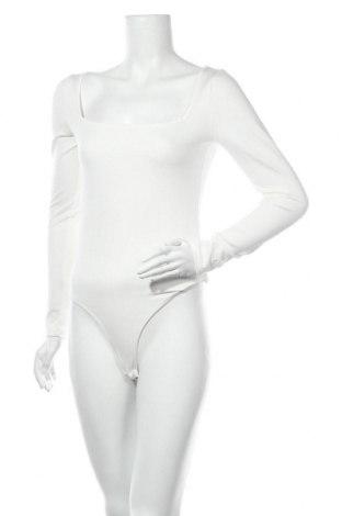 Дамска блуза - боди Na-Kd, Размер M, Цвят Бял, 60% модал, 32% полиестер, 8% еластан, Цена 28,56лв.