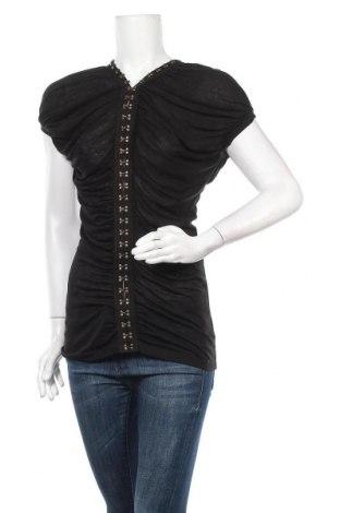 Γυναικεία μπλούζα 7 For All Mankind, Μέγεθος S, Χρώμα Μαύρο, Lyocell, Τιμή 20,98€