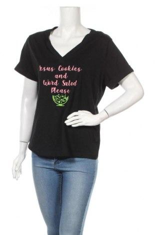 Дамска блуза A New Day, Размер L, Цвят Черен, 60% памук, 40% модал, Цена 28,35лв.