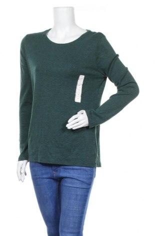 Дамска блуза A New Day, Размер XL, Цвят Зелен, 58% памук, 39% модал, 3% еластан, Цена 27,93лв.