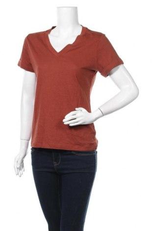 Дамска блуза A New Day, Размер XS, Цвят Кафяв, 60% памук, 40% модал, Цена 14,70лв.