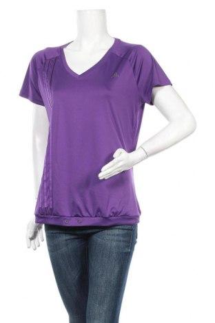 Γυναικεία μπλούζα Adidas, Μέγεθος XL, Χρώμα Βιολετί, Πολυεστέρας, Τιμή 14,29€