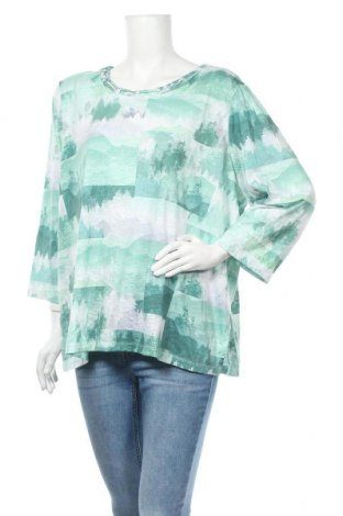 Дамска блуза Alfred Dunner, Размер XXL, Цвят Зелен, 95% полиестер, 5% еластан, Цена 6,98лв.