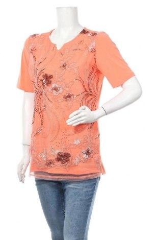 Дамска блуза Alfredo Pauly, Размер M, Цвят Оранжев, 95% полиестер, 5% еластан, Цена 7,18лв.
