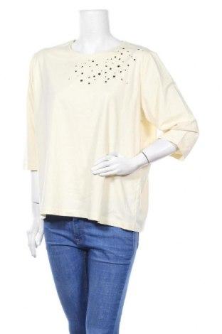 Дамска блуза Barbara Lebek, Размер XXL, Цвят Екрю, 94% памук, 6% еластан, Цена 30,35лв.