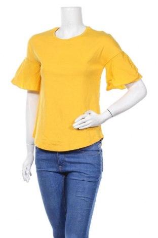 Дамска блуза COS, Размер XS, Цвят Жълт, Памук, Цена 22,05лв.