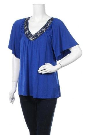 Дамска блуза Cable & Gauge, Размер L, Цвят Син, 95% вискоза, 5% еластан, Цена 6,62лв.