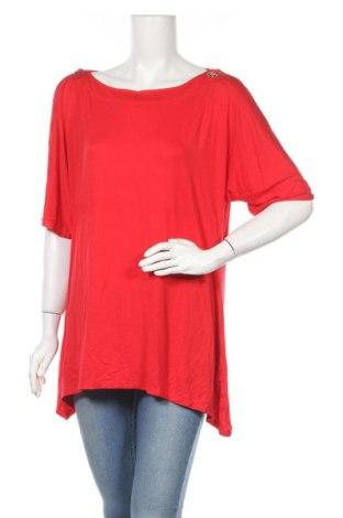 Дамска блуза Cable & Gauge, Размер L, Цвят Червен, 95% вискоза, 5% еластан, Цена 29,40лв.