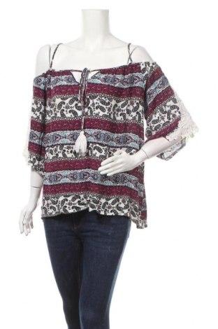 Дамска блуза Charlotte Russe, Размер XL, Цвят Многоцветен, Вискоза, Цена 18,90лв.