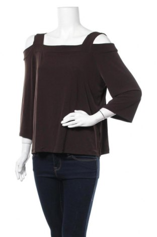 Дамска блуза Chico's, Размер M, Цвят Кафяв, 96% полиестер, 4% еластан, Цена 64,84лв.
