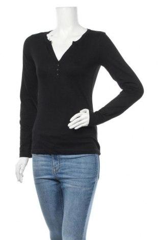 Дамска блуза Colours Of The World, Размер S, Цвят Черен, 65% полиестер, 35% памук, Цена 10,40лв.