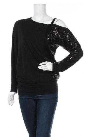 Дамска блуза Crazy World, Размер M, Цвят Черен, 47% полиестер, 47% вискоза, 6% еластан, Цена 16,96лв.