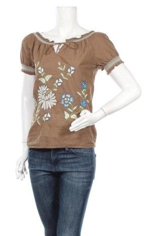 Дамска блуза Cream, Размер XS, Цвят Кафяв, Памук, Цена 30,24лв.