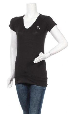 Дамска тениска Crivit, Размер S, Цвят Черен, 82% полиестер, 18% еластан, Цена 14,70лв.