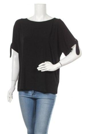 Дамска блуза DKNY, Размер L, Цвят Черен, 95% полиестер, 5% еластан, Цена 28,50лв.