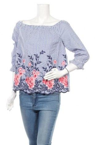 Дамска блуза Elle, Размер L, Цвят Син, 68% полиестер, 32% памук, Цена 17,85лв.