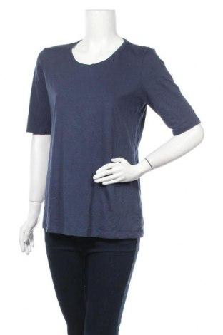 Дамска блуза Essentials by Tchibo, Размер L, Цвят Син, 58% памук, 39% вискоза, 3% еластан, Цена 16,80лв.