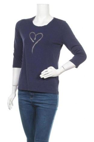 Дамска блуза Fabiani, Размер M, Цвят Син, 95% вискоза, 5% еластан, Цена 11,34лв.