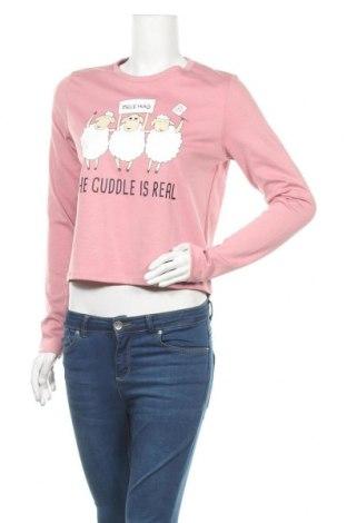 Дамска блуза Fb Sister, Размер M, Цвят Розов, 72% полиестер, 24% вискоза, 4% еластан, Цена 14,70лв.
