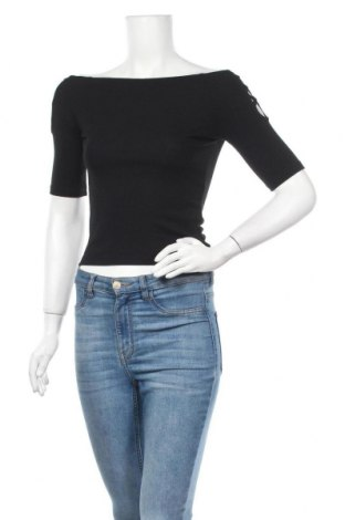 Γυναικεία μπλούζα Forever 21, Μέγεθος S, Χρώμα Μαύρο, 62% πολυεστέρας, 33% βισκόζη, 5% ελαστάνη, Τιμή 11,04€