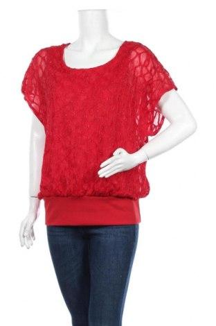 Дамска блуза Fransa, Размер M, Цвят Червен, 95% полиестер, 5% еластан, Цена 15,12лв.