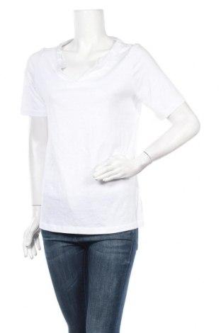 Γυναικεία μπλούζα Gina Laura, Μέγεθος M, Χρώμα Λευκό, 50% βαμβάκι, 50% μοντάλ, Τιμή 3,86€