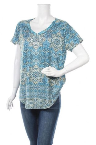 Дамска блуза Gloria Vanderbilt, Размер L, Цвят Многоцветен, 95% полиестер, 5% еластан, Цена 17,01лв.