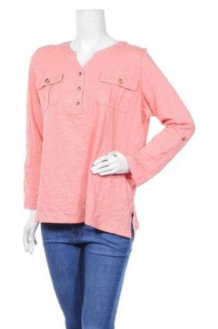 Дамска блуза Gloria Vanderbilt, Размер L, Цвят Розов, Памук, Цена 17,96лв.