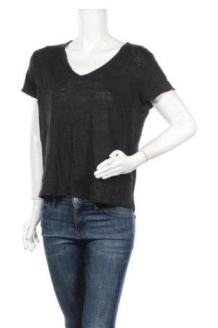 Дамска блуза H&M L.O.G.G., Размер L, Цвят Черен, Лен, Цена 17,96лв.