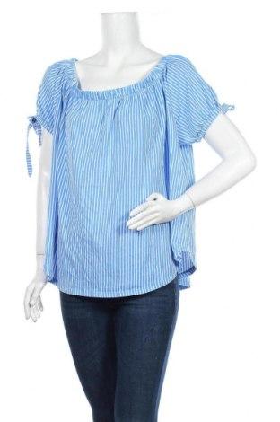 Дамска блуза H&M L.O.G.G., Размер XL, Цвят Син, Памук, Цена 16,80лв.