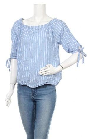 Дамска блуза H&M L.O.G.G., Размер S, Цвят Син, Памук, Цена 14,96лв.