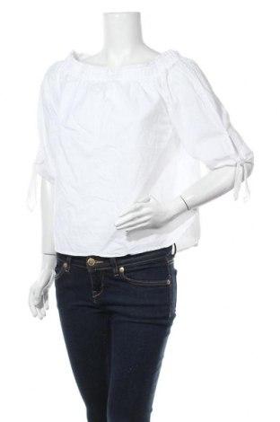 Дамска блуза H&M L.O.G.G., Размер S, Цвят Бял, Памук, Цена 14,28лв.