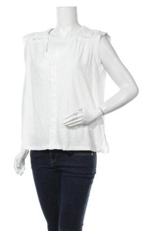 Дамска блуза H&M L.O.G.G., Размер L, Цвят Бял, 70% памук, 30% лен, Цена 15,75лв.