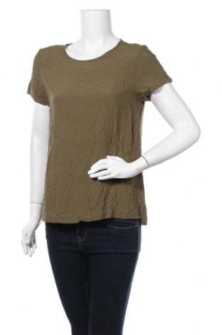 Дамска блуза H&M L.O.G.G., Размер M, Цвят Зелен, Вискоза, Цена 14,28лв.