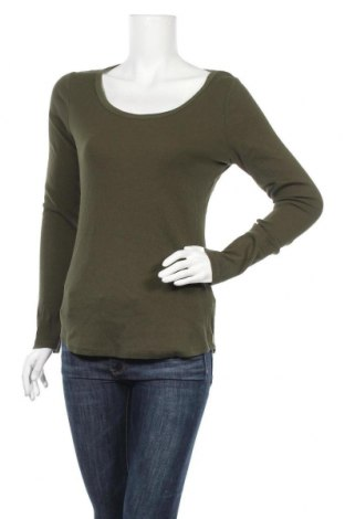 Γυναικεία μπλούζα H&M L.O.G.G., Μέγεθος L, Χρώμα Πράσινο, 95% βαμβάκι, 5% ελαστάνη, Τιμή 7,40€