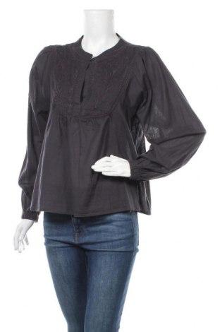 Дамска блуза H&M L.O.G.G., Размер S, Цвят Черен, Памук, Цена 18,75лв.