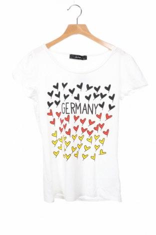Дамска блуза Hallhuber, Размер XS, Цвят Бял, 95% памук, 5% еластан, Цена 35,70лв.
