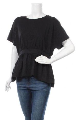 Дамска блуза Halogen, Размер M, Цвят Черен, 58% памук, 38% модал, 4% еластан, Цена 16,07лв.